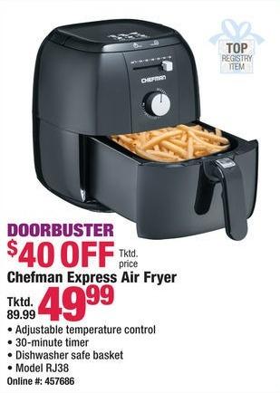 Boscov's Black Friday: Chefman RJ38 Express Air Fryer for $49.99