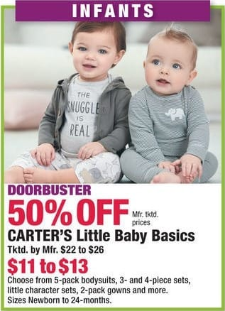 Boscov's Black Friday: Carter's Little Baby Basics for $11.00 - $13.00