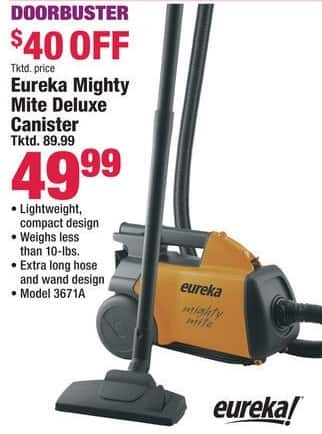 Boscov's Black Friday: Eureka Mighty Mite Deluxe Canister Vacuum for $49.99