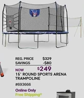 Sam's Club Black Friday: 15' Round Sports Arena Trampoline for $249.00
