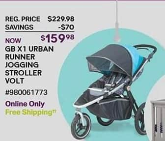 Sam's Club Black Friday: GB X1 Urban Runner Jogging Stroller Volt for $159.98