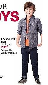 Burlington Coat Factory Black Friday: Boys 3-Piece Set for $14.99