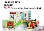 Burlington Coat Factory Black Friday: Select Learning Toys for $11.99