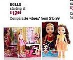 Burlington Coat Factory Black Friday: Select Dolls for $12.99