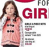 Burlington Coat Factory Black Friday: Girls 3-Piece Sets for $12.99