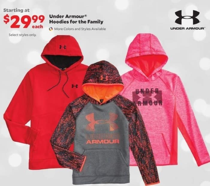 Academy Sports + Outdoors Black Friday: Under Armour Hoodies for the Family for $29.99