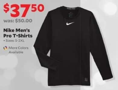 Academy Sports + Outdoors Black Friday: Mike Men's Pro T-Shirts for $37.50