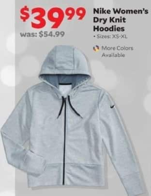 Academy Sports + Outdoors Black Friday: NIke Women's Dry Knit Hoodies for $39.99