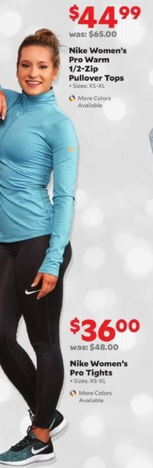 Academy Sports + Outdoors Black Friday: Nike Women's Pro Warm 1/2-Zip Pullover Tops for $44.99