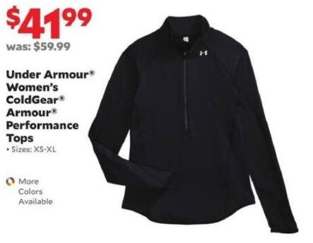 Academy Sports + Outdoors Black Friday: Under Armour Women's ColdGear Armour Performance Tops for $41.99
