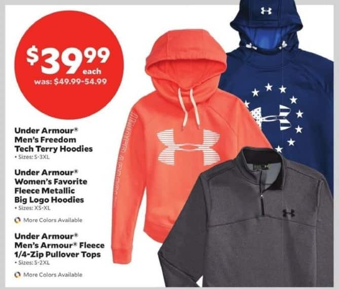 Academy Sports + Outdoors Black Friday: Under Armour Men's Freedom Tech Terry Hoodies for $39.99