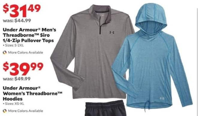 Academy Sports + Outdoors Black Friday: Under Armour Men's Threadborne Siro 1/4-Zip Pullover Tops for $31.49