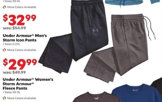 Academy Sports + Outdoors Black Friday: Under Armour Men's Storm Icon Pants for $32.99