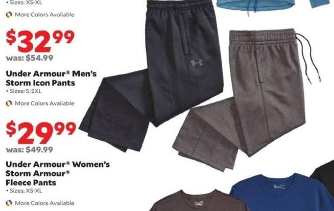 Academy Sports + Outdoors Black Friday: Under Armour Women's Storm Armour Fleece Pants for $29.99