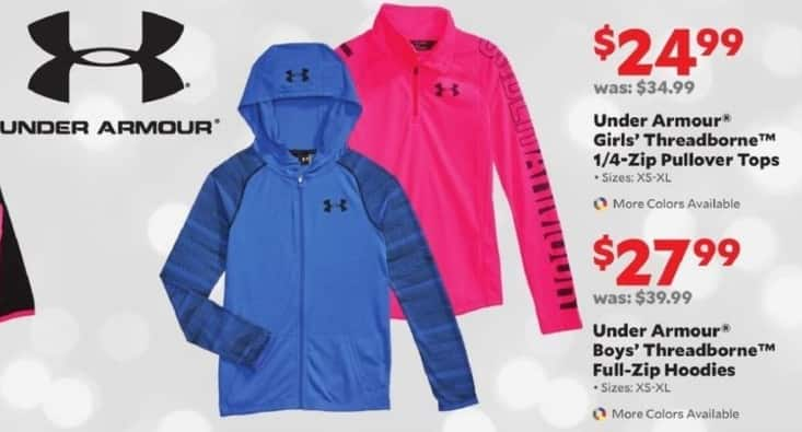 Academy Sports + Outdoors Black Friday: Under Armour Boys' Threadborne Full-Zip Hoodies for $27.99