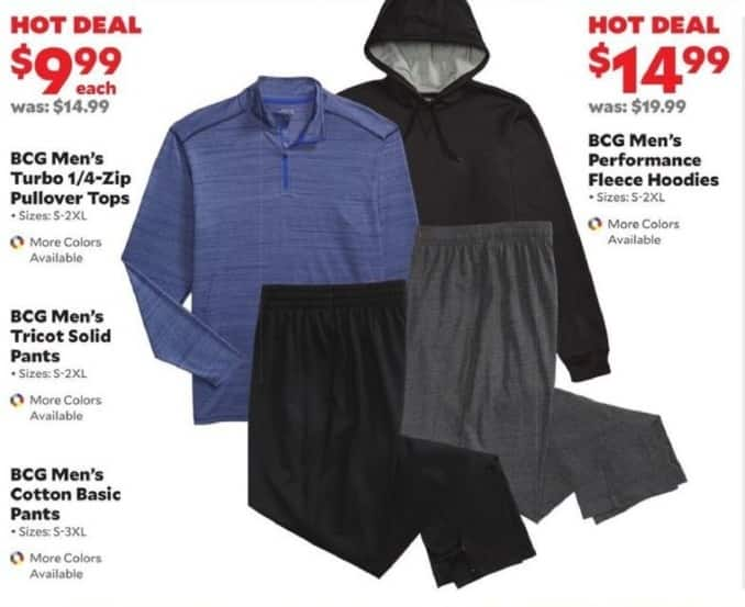 Academy Sports + Outdoors Black Friday: BCG Men's Tricot Solid Pants for $9.99