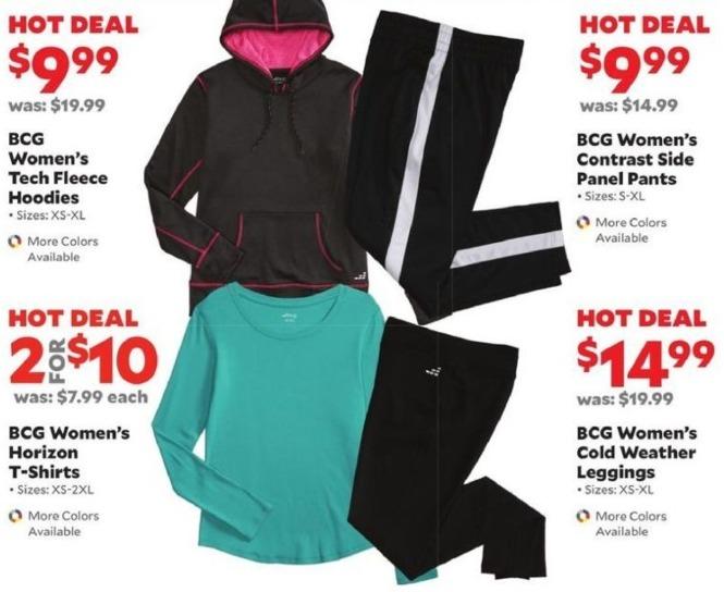 Academy Sports + Outdoors Black Friday: BCG Women's Tech Fleece Hoodies for $9.99