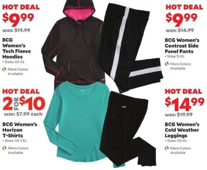 Academy Sports + Outdoors Black Friday: (2) BCG Women's Horizon T-Shirts for $10.00