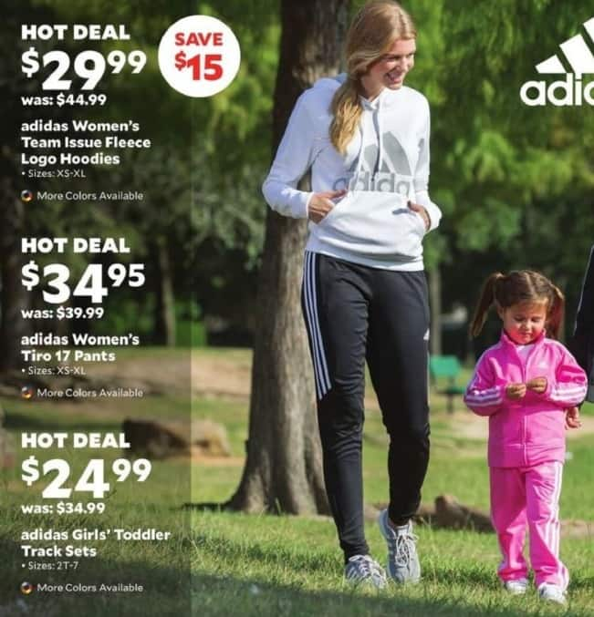 Academy Sports + Outdoors Black Friday: Adidas Women's Team Issue Fleece Logo Hoodies for $29.99
