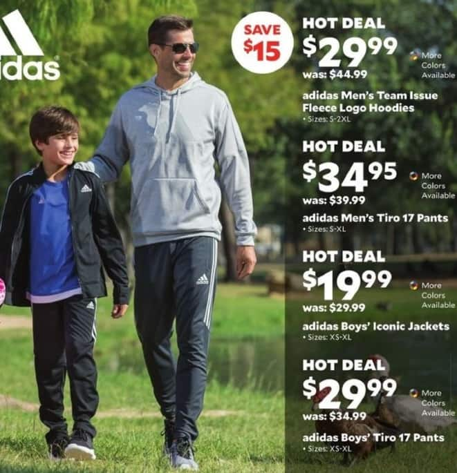 Academy Sports + Outdoors Black Friday: Adidas Men's Team Issue Fleece Logo Hoodies for $29.99
