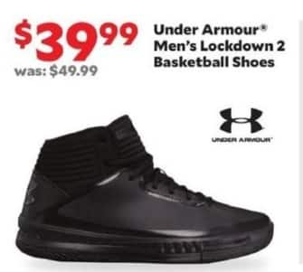 Academy Sports + Outdoors Black Friday: Under Armour Men's Lockdown 2 Basketball Shoes for $39.99