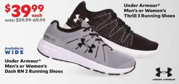Academy Sports + Outdoors Black Friday: Under Armour Men's or Women's Thrill 3 Running Shoes for $39.99