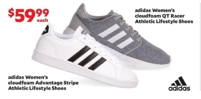 Academy Sports + Outdoors Black Friday: adidas Women's cloudfoam Advantage Stripe Athletic Lifestyle Shoes for $59.99
