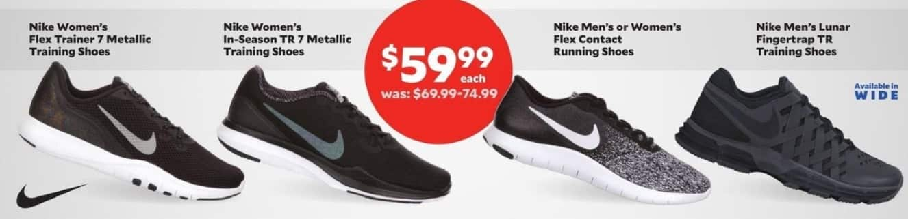 Academy Sports + Outdoors Black Friday: Nike Women's Flex Trainer 7 Metallic Training Shoes for $59.99