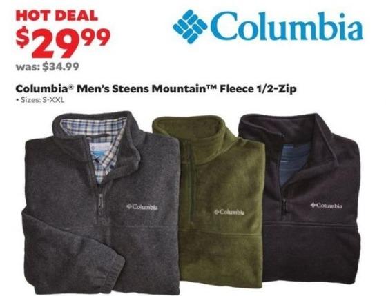 Academy Sports + Outdoors Black Friday: Columbia Men's Steens Mountain Fleece 1/2-Zip for $29.99