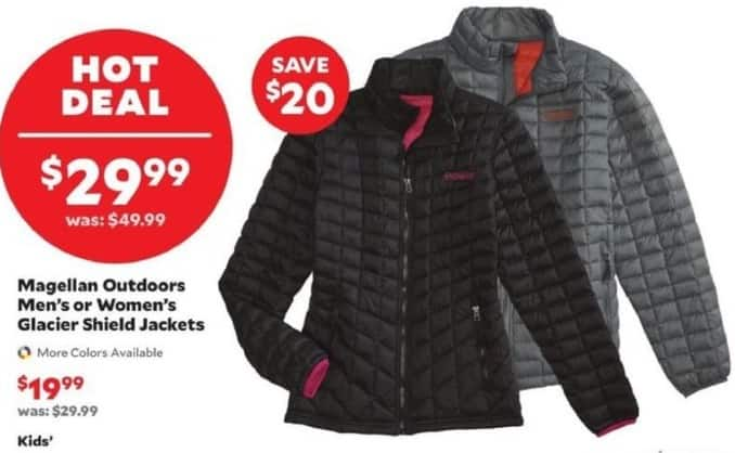 Academy Sports + Outdoors Black Friday: Magellan Outdoors Men's or Women's Glacier Shield Jackets for $29.99