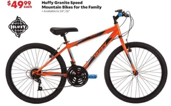 Academy Sports + Outdoors Black Friday: Huffy Granite Speed Mountain Bikes for the Family for $49.99
