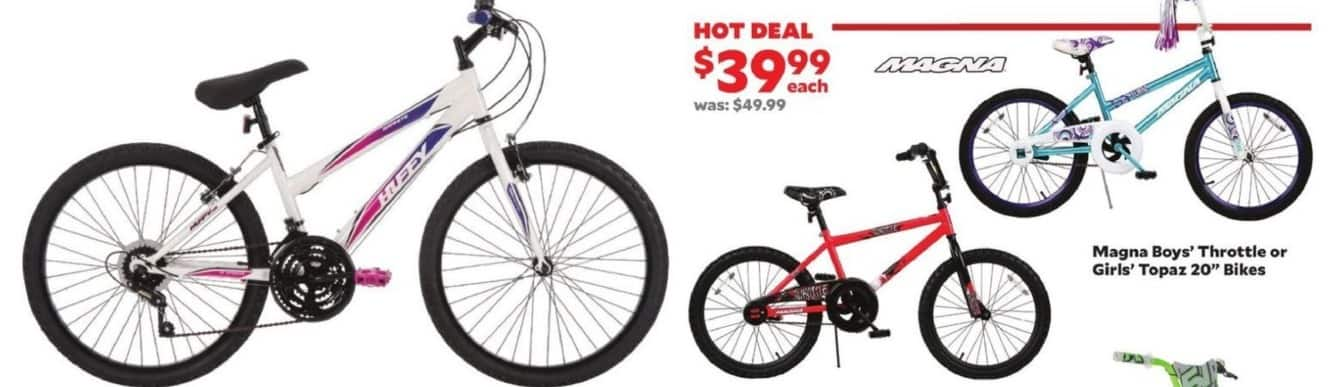 "Academy Sports + Outdoors Black Friday: Magna Girls' Topaz 20"" Bikes for $39.99"