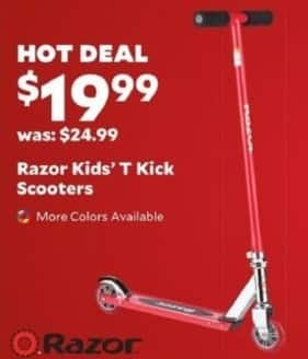 Academy Sports + Outdoors Black Friday: Razor Kids' T Kick Scooters for $19.99