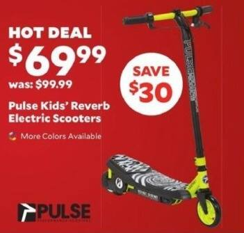 Academy Sports + Outdoors Black Friday: Pulse Kids' Reverb Electric Scooters for $69.99