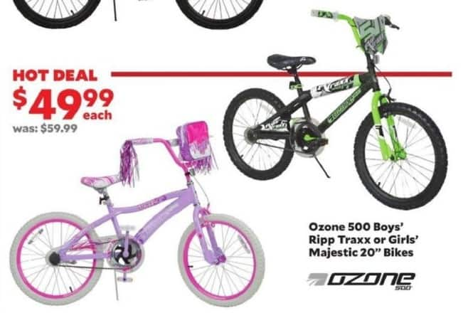 "Academy Sports + Outdoors Black Friday: Girl's Majestic 20"" Bikes for $49.99"
