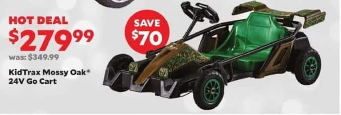 Academy Sports + Outdoors Black Friday: KidTrax Mossy Oak 24V Go Cart for $279.99