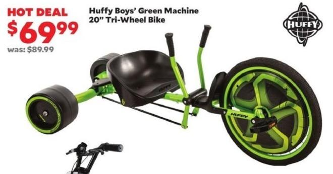 "Academy Sports + Outdoors Black Friday: Huffy Boys' Green Machine 20"" Tri-Wheel Bike for $69.99"