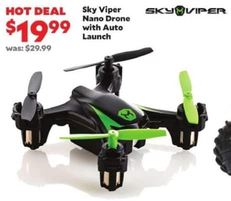 Academy Sports + Outdoors Black Friday: Sky Viper Nano Drone w/Auto Launch for $19.99