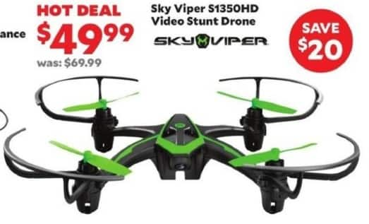 Academy Sports + Outdoors Black Friday: Sky Viper S1350HD Video Stunt Drone for $49.99