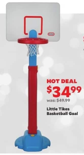 Academy Sports + Outdoors Black Friday: Little Tikes Basketball Goal for $34.99