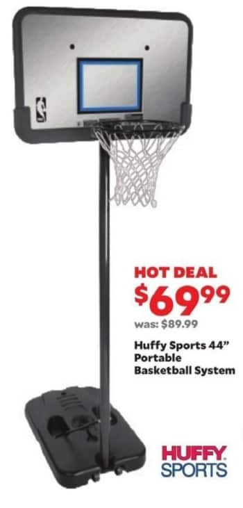 "Academy Sports + Outdoors Black Friday: Huffy Sports 44"" Portable Basketball System for $69.99"