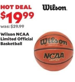 Academy Sports + Outdoors Black Friday: Wilson NCAA Limited Official Basketball for $19.99