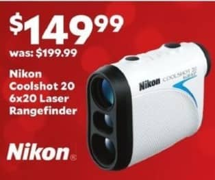 Academy Sports + Outdoors Black Friday: Nikon Coolshot 20 6x20 Laser Rangefinder for $149.99