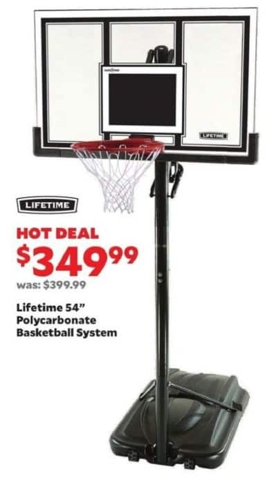 "Academy Sports + Outdoors Black Friday: Lifetime 54"" Polycarbonate Basketball System for $349.99"