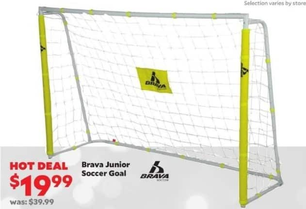 Academy Sports + Outdoors Black Friday: Brava Junior Soccer Goal for $19.99