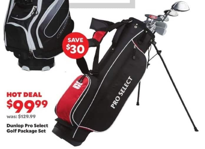 Academy Sports + Outdoors Black Friday: Dunlop Pro Select Golf Package Set for $99.99