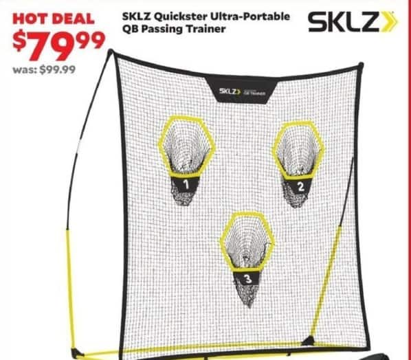 Academy Sports + Outdoors Black Friday: SKLZ Quickster Ultra-Portable QB Passing Trainer for $79.99