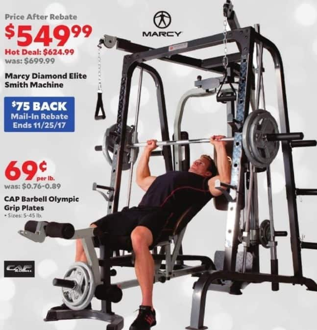 Academy Sports + Outdoors Black Friday: Marcy Diamond Elite Smith Fitness Machine for $549.99 after $75 rebate