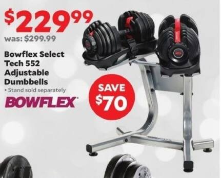 Academy Sports + Outdoors Black Friday: Bowflex Select Tech 552 Adjustable Dumbbells for $229.99
