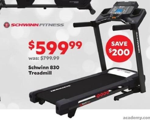 Academy Sports + Outdoors Black Friday: Schwinn 830 Treadmill for $599.99